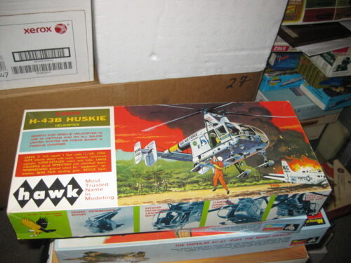 MIB Kaman H-43B Huskie Helicopter by Hawk from 1967