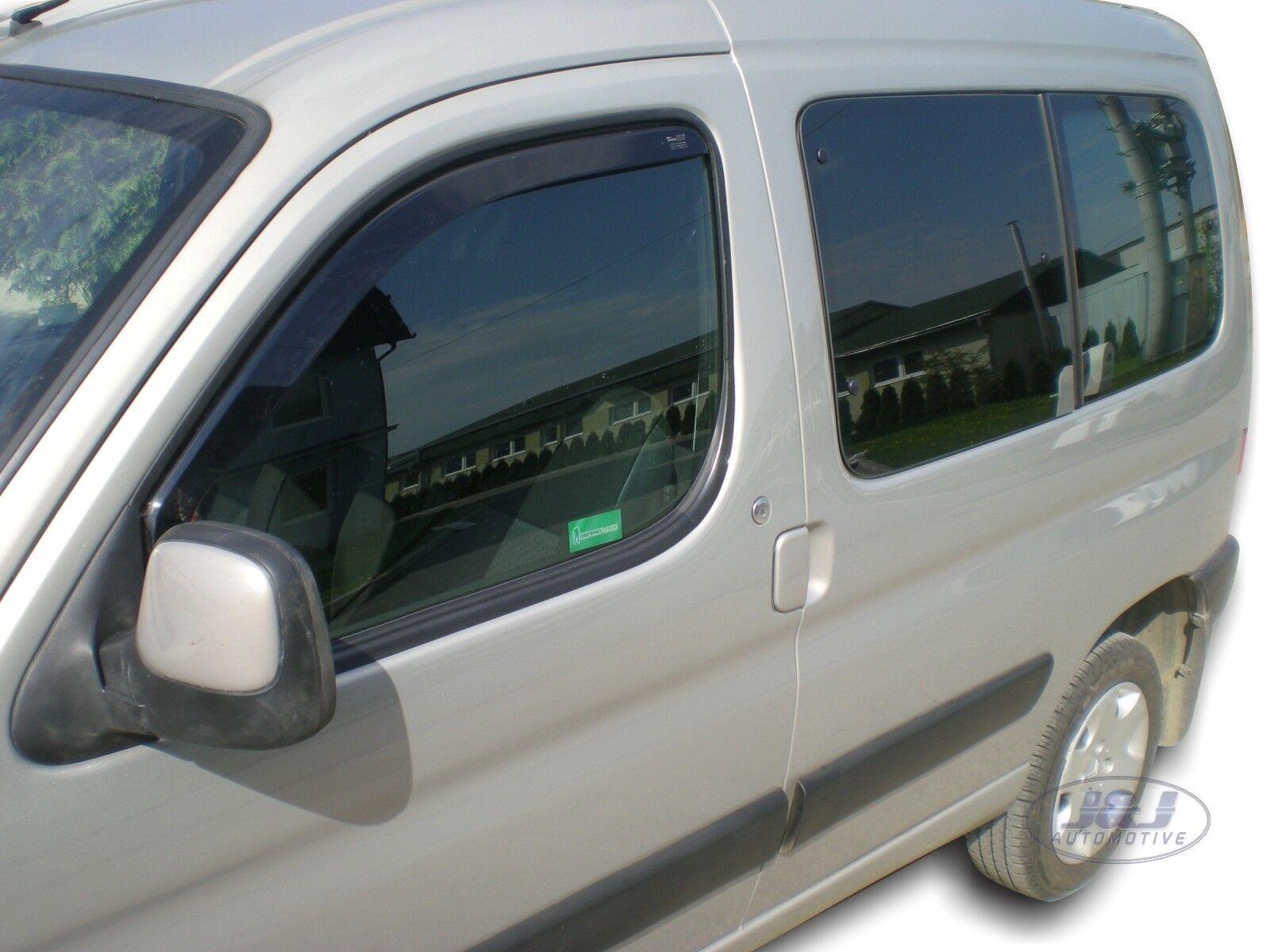 citroen berlingo 2 portes 2002 2008 deflecteurs d 39 air d flecteurs de vent 2pcs ebay. Black Bedroom Furniture Sets. Home Design Ideas