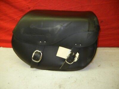 Flstf Saddlebag (Harley Davidson Softail FLSTF Right Leather Saddlebag, Used, Road)