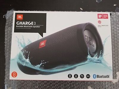 Brand New Sealed JBL Charge 3 Waterproof Portable Bluetooth Speaker - Black for sale  Shipping to South Africa