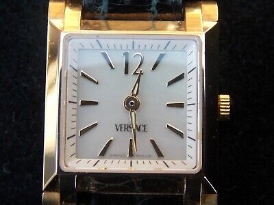 Ladies Versace Solid 18ct. 750. Yellow Gold Watch / buckle Immaculate /Rare