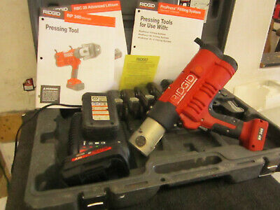 Ridgid 43358 Rp 340 Battery Press Tool Kit With Propress Jaws