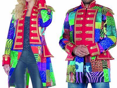 Kostüm Multi-Patch bunte Jacke Frack Zirkus Patchworkjacke Karneval Damen Herren