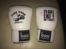 Professional White Leather Boxing Gloves 10 OZ Maylands Bayswater Area Preview