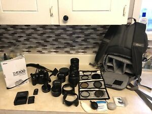 Nikon D5100 camera, bag lenses etc.