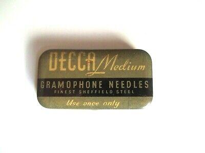 Antique DECCA Medium Gramophone Needles Tin w/ Some Needles