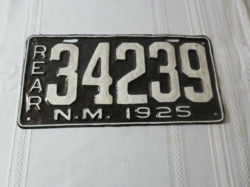 1925 NEW MEXICO REAR RESTORED LICENSE PLATE 34239