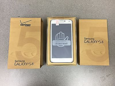 New Samsung Galaxy S5 SM-G900V - 16GB White (Unlocked) Verizon. LCD SHADOW