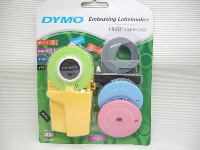 Dymo 1880 Embossing Label Maker 3 Word Dishes 1 Label Refill(china ...