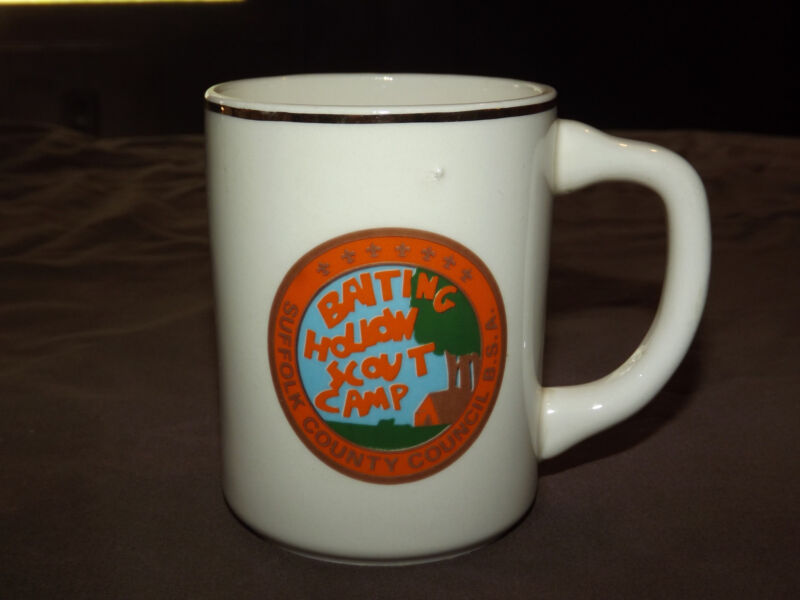 VINTAGE BSA BOY SCOUTS  MUG BAITING HOLLOW SCOUT CAMP SUFFOLK COUNTY COUNCIL