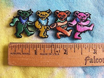 Grateful Dead Dancing Bears Iron On MINI 3 Inch Patch
