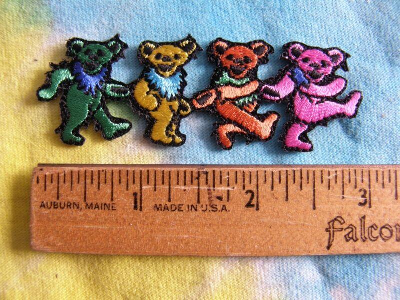 Grateful Dead Dancing Bears Iron On MINI 3 Inch Patch