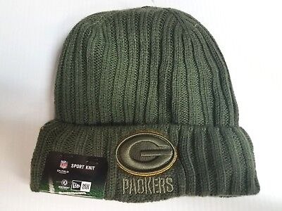 Green Bay Packers New Era Knit Hat 2017 Salute to Service Stocking Cap NFL for sale  Shipping to Canada
