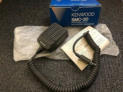Vintage Kenwood SMC-30 Speaker Hand Microphone Ham CB Radio NOS! LOOK