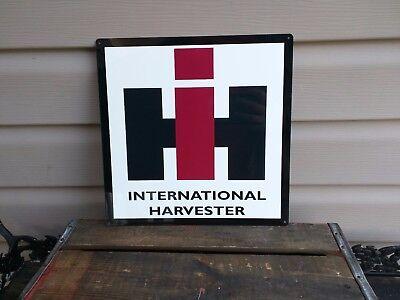 INTERNATIONAL HARVESTER METAL SIGN FARM BARN TRACTOR Repro 12x12 50101