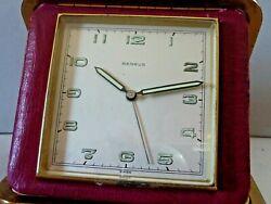 Vintage Benrus 7 jewel travel alarm clock desk clock Swiss Made