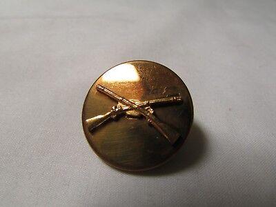 Military Collar Brass Rifles Badge