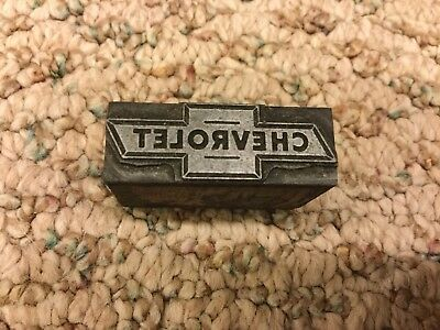 Chevrolet - Lead Printing Block - Letterpress Stamp