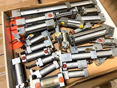 Lot Of Small Parker Pnd Pneumatic Air Cylinders
