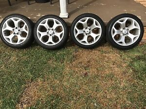 "4x 18"" ford honeycomb rims and tyres Ruse Campbelltown Area Preview"