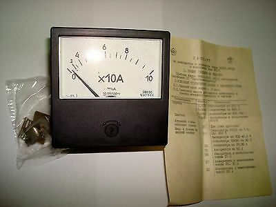 0-100a Russian 8030 Ammeter Current Meter Amp Analog Panel Meter.