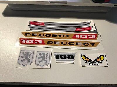 Kit autocollant STICKERS peugeot 103 MVL