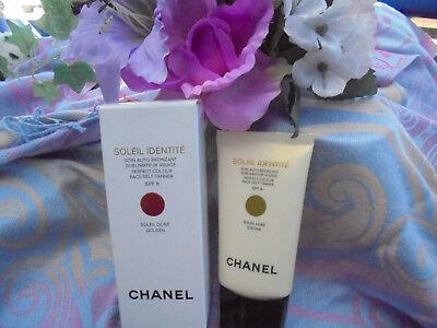 Dore Gesicht (Chanel Soleil Identité Selbstbräuner Gesicht SPF8 Soleil Dore Golden 50 ml OVP)