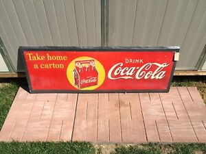 14 soda pop Coca Cola Pepsi orange crush signs door push bar