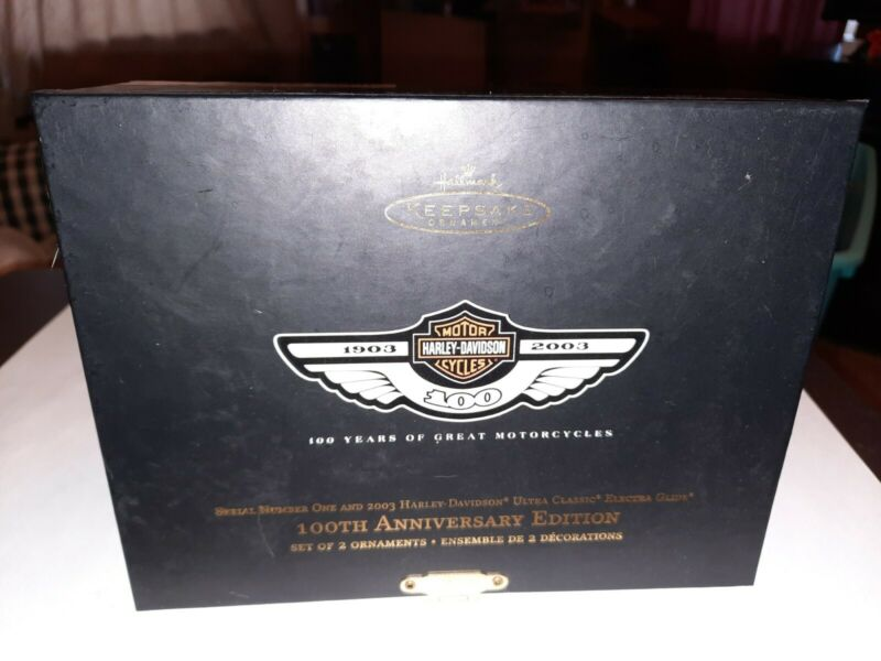 Hallmark Keepsake Ornament 100th Anniversary Edition Harley-Davidson Motorcycles