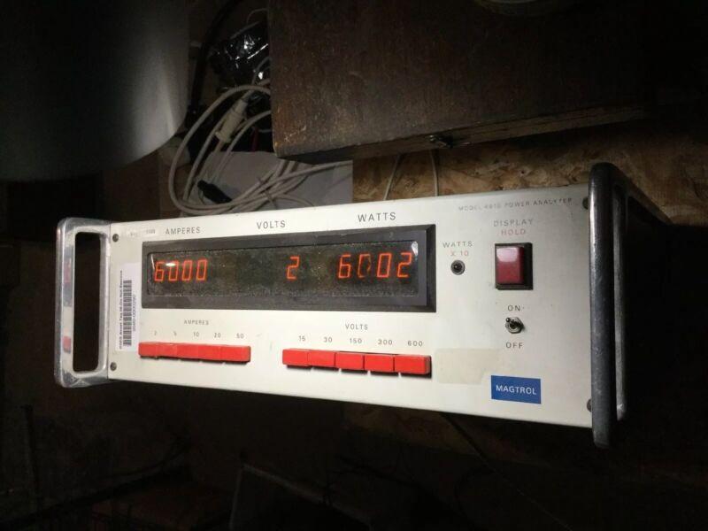 Magtrol 4610 Single Phase Power Analyzer