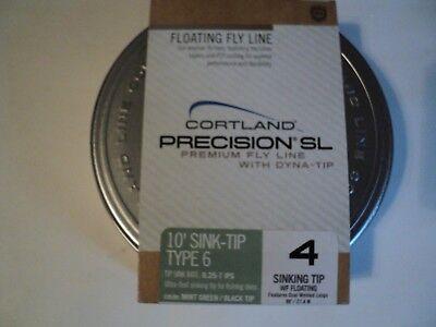 2f6bc118b6f12 1- SPOOL WITH TIN OF CORTLAND PRECISION WF-4- 10 FOOT SINK TIP TYPE 6 (NIP)