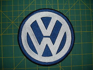 VW Emblem Embroidered Patch 5 inch NEW