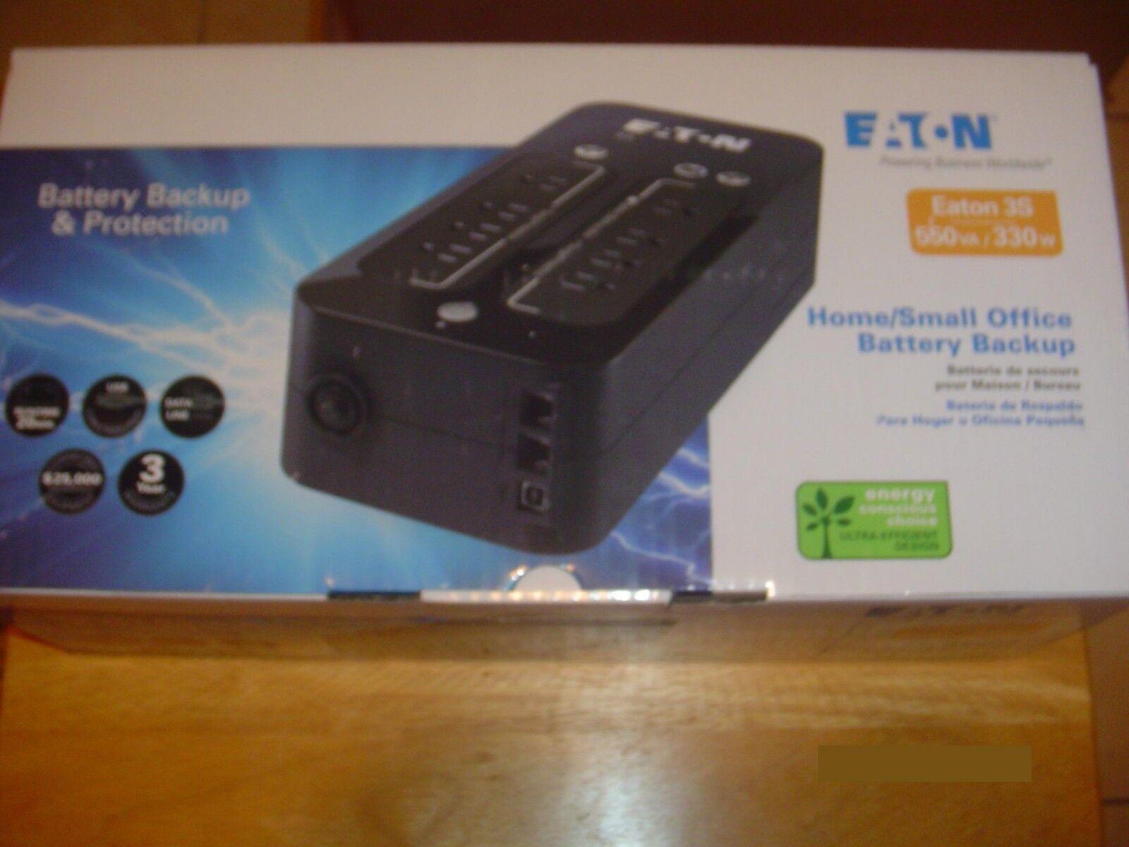 Eaton 3S550 UPS Home Small Office Battery Backup - NEW - PRI