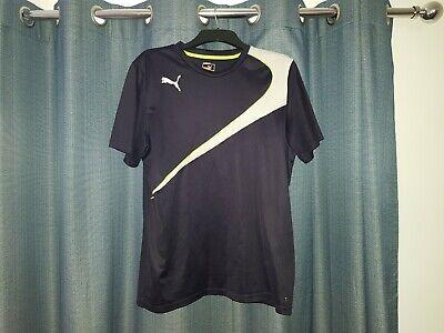 Men's PUMA DryCell T-Shirt Navy Blue Running Football Top XL Sports Tee Gym