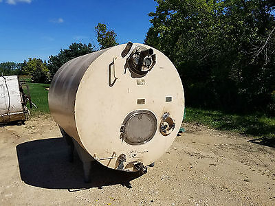1000 Gallon Cherry Burrell Jacketedinsulated Horizontal 316 Stainless Tank Legs