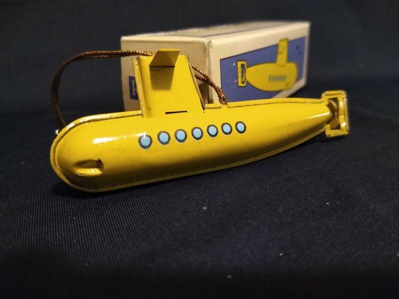 Restoration Hardware Tin Toy Ornament, Yellow Submarine, Beatles