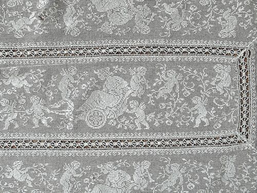 cherub lace victorian antique style textile neoclassic decor shabby french style