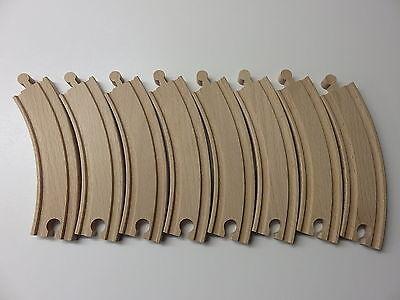 8 x große Kurven ca. 15,5 cm für Holzeisenbahn passend zu Brio, Eichhorn usw.