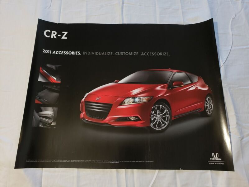 """2011 Honda CR-Z Accessories Dealership Promotional Poster 26""""×20"""" USA"""