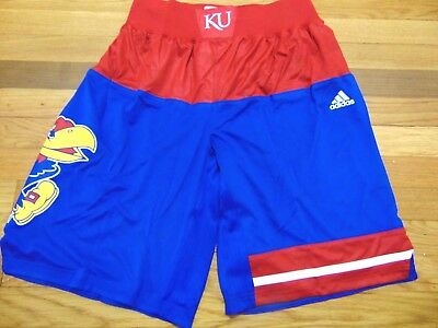 ADIDAS AUTHENTIC NCAA KANSAS JAYHAWKS BASKETBALL GAME SHORTS M+2