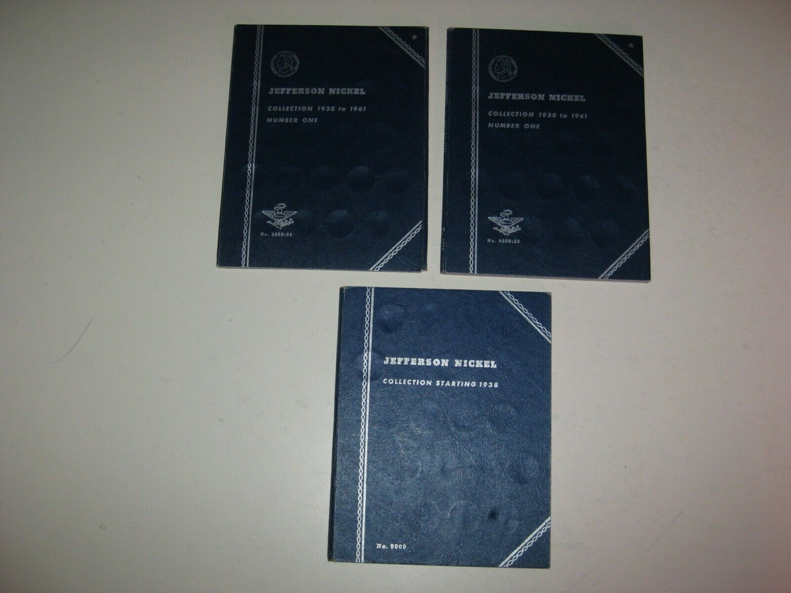 1938-1961 Jefferson Nickel Whitman Folders Set Of 3 - $1.92