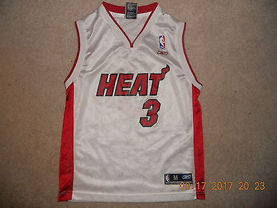 (Miami Heat NBA Basketball Jersey Dwayne Wade #3 Reebok  Medium Youth D-Wade Swee)