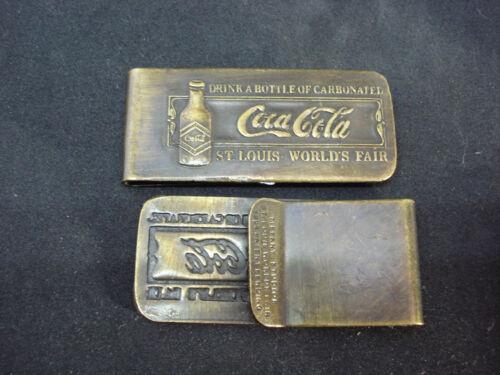 Coca-Cola ST Louis Worlds Fair 1904 Money Clip Tiffany Drink Coke