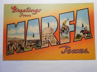 Old Postcard, GREETINGS FROM MARFA, TEXAS