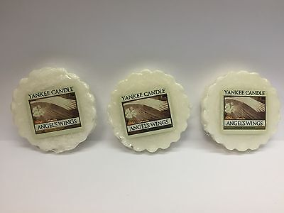 Yankee Candle ANGEL'S WINGS LOT OF 3 TARTS WAX MELTS NEW