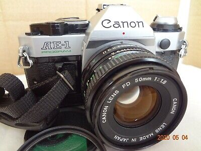 Canon AE-1 Program 35mm film SLR Camera with FD50/f1.8 from Japan Exc+++con 2395