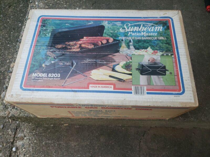 New Sunbeam PatioMaster Portable Propane Gas Grill Model 8203