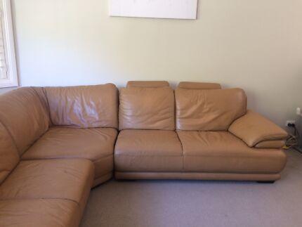 Demir Leather corner lounge