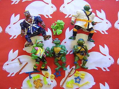 Teenage Mutant Ninja Turtles large Bebop + Michelangelo +many weapons+unicycle