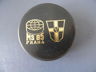 OFFICIAL GAME PUCK WM 2008 CANADA 100 JAHRE IIHF Fanartikel Eishockey